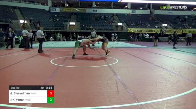 285 lbs Consi Of 16 #1 - Joseph Giesselmann, Wayne State vs Kaelen Yanak, Montana Tech