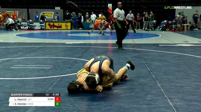 125 lbs Quarterfinal - Luke Resnick, Lehigh vs Sergio Mendez, CSU-Bake
