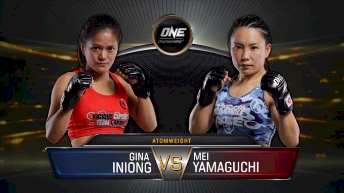 Mei Yamaguchi vs. Gina Iniong ONE Immortal Pursuit Replay