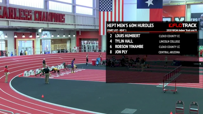Men's Heptathlon 60m Hurdles, Heat 1