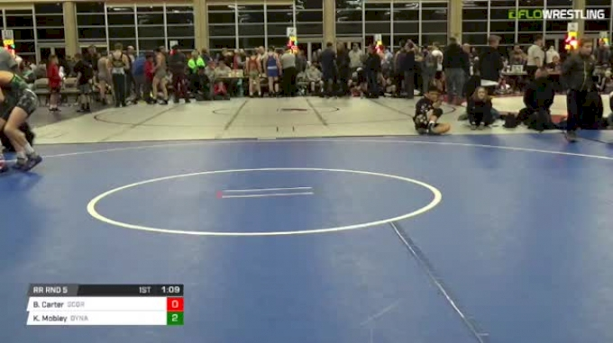 100 lbs Rr rnd 5 - Brady Carter, Scorpions Dynasty Black MS vs Kenndyl Mobley, Dynamite USA Black MS