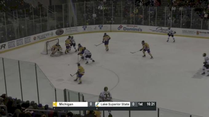 Highlights: Michigan Returns Favor, Beats Lake Superior State 5-3