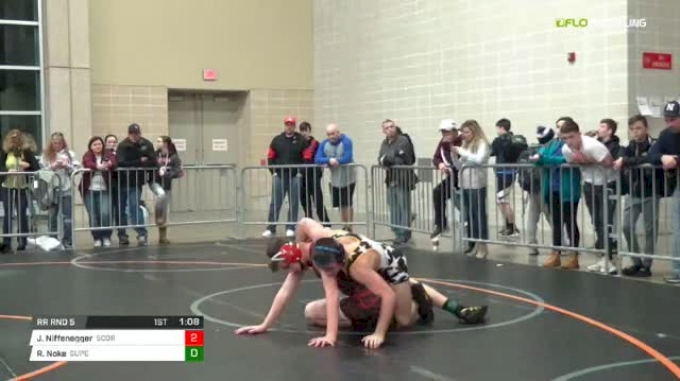 135 lbs Rr rnd 5 - Jake Niffenegger, Scorpions Dynasty Gold MS vs Ronan Noke, SuperKids-Terps MS