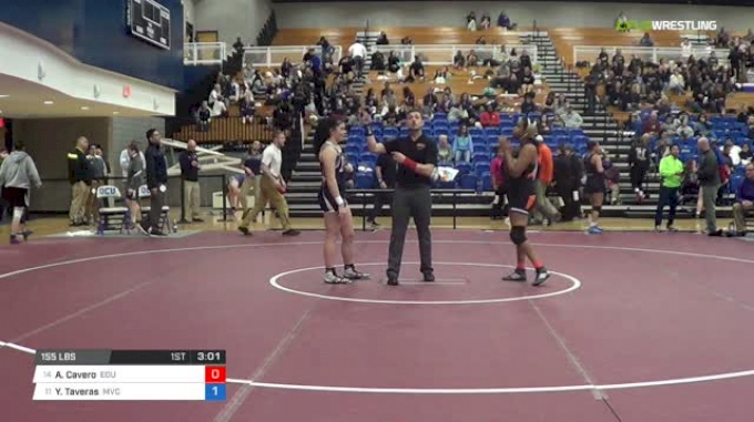 155 lbs Consi of 8 #1 - Yuneris Taveras, Missouri Valley College vs Alexis Cavero, Eastern Oregon University