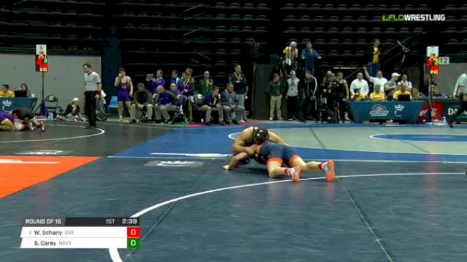 174 lbs Round of 16 - Will Schany, Virginia vs Spencer Carey, Navy
