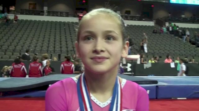 Norah Flatley Wins Beam in her First Secret Classic