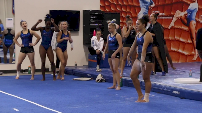 Amelia Hundley Nails Tumbling & Adorably Freaks Out When Fam Surprises Her At Intrasquad