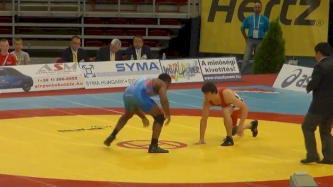 74 lbs round1 Jordan Burroughs USA vs. Gamid Dzhalilov TJK