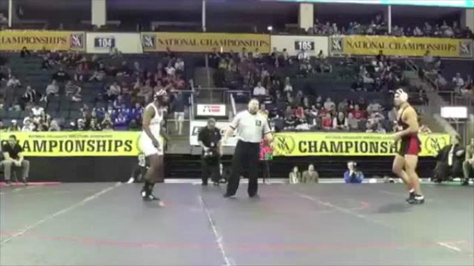 197 lbs finals Tyrell Walker Central Florida vs. Paul Ardilla Georgia