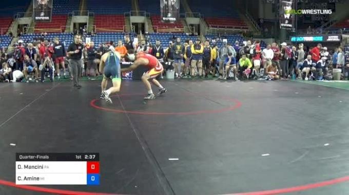 152 lbs Quarterfinal - Daniel Mancini, PA vs Cameron Amine, MI