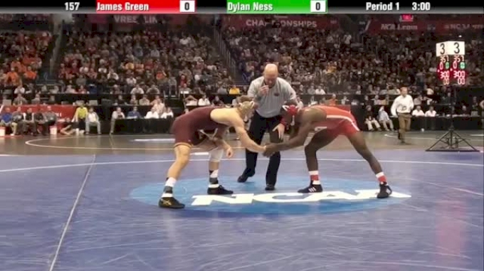 157 Quarter Finals: James Green (NEB) vs. Dylan Ness (MINN)