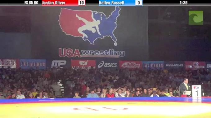 65kg semi-finals Kellen Russell vs. Jordan Oliver