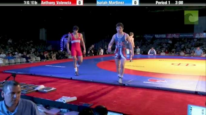 74kg Finals Anthony Valencia (CA) vs. Isaiah Martinez (CA)