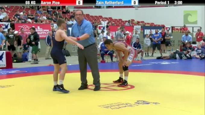 66kg Finals Aaron Pico (CA) vs. Zain Retherford (PA)
