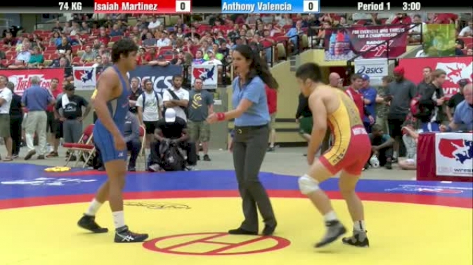 74kg Finals Anthony Valencia (CA) vs. Isaiah Martinez (CA)