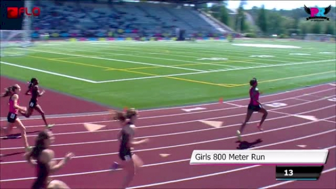 Girl's 800 F01 (Efraimson wins in US#1 2:03 Brooks PR 2014)