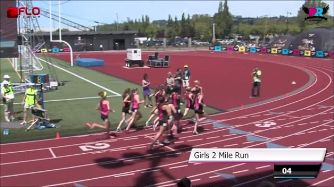 Girl's 2 Mile F01 (Bethan Knights sets National Record 9:53.53 Brooks PR 2014)