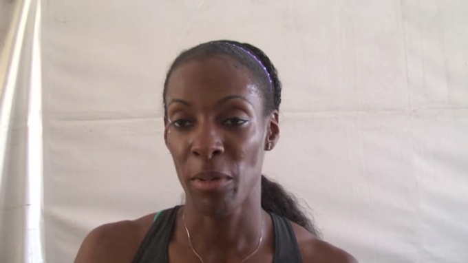 Dee Dee Trotter after her 400 qualifier where everyone qualified
