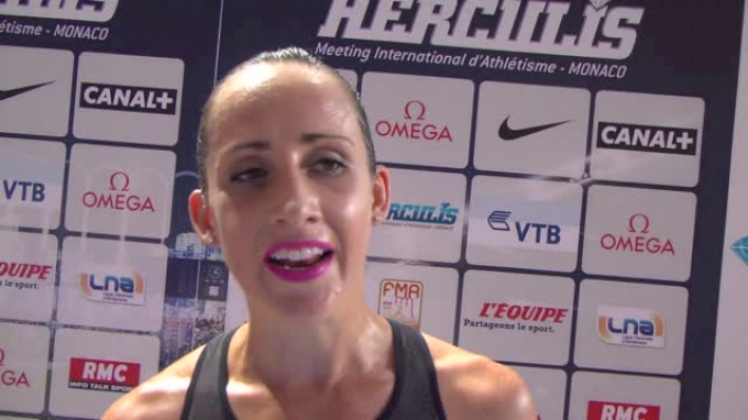 Shannon Rowbury after a huge 5k PB in Monaco