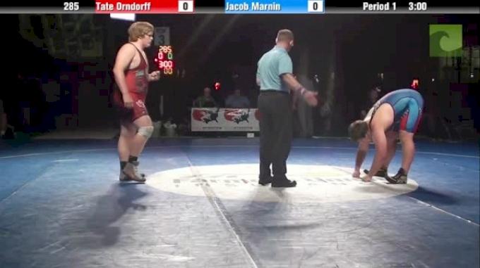 285lbs 3rd Place Match Tate Orndorff (WA) vs. Jacob Marnin (IA)