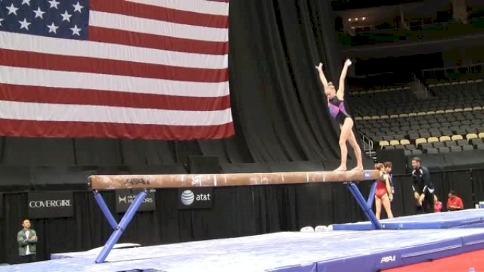 Rachel Gowey Looking Great on Beam Minutes Before Fracturing her Ankle, 2014 P&Gs training