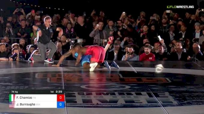 74 kg Rr Rnd 1 - Frank Chamizo, Italy vs Jordan Burroughs, USA