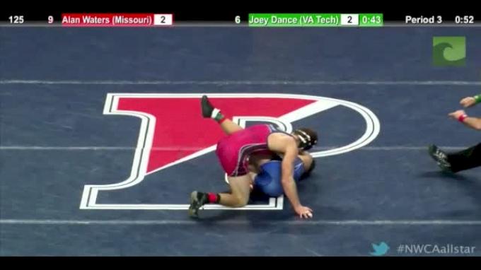 125lbs Match Alan Waters (Mizzou) vs. Joey Dance (Virginia Tech)