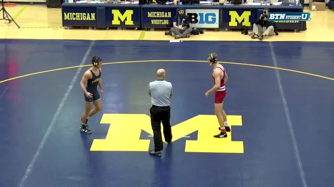 165 lbs, #6 Evan Wick vs Reece Hughes, Michigan