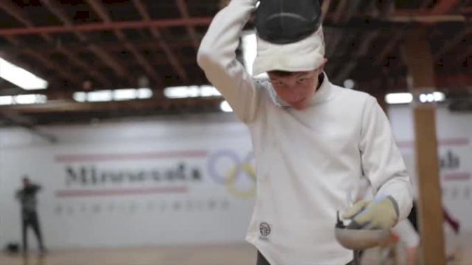 Graham Maas competes in the modern pentathlon