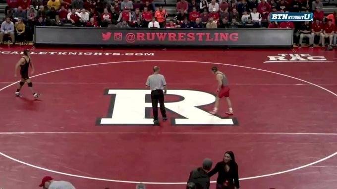 157 m, Michael Kemerer, Iowa vs Brett Donner, Rutgers