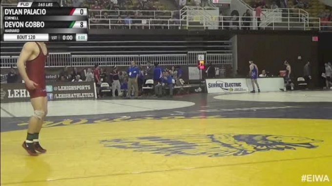 165lbs Quarter-finals Dylan Palacio (Cornell) vs. Devon Gobbo (Harvard)