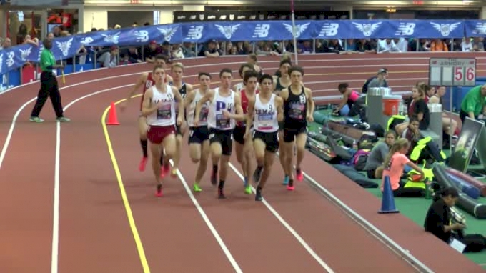 Boy's Mile Championship (Grant Fisher 4:03.54 & Near Wipeout!)