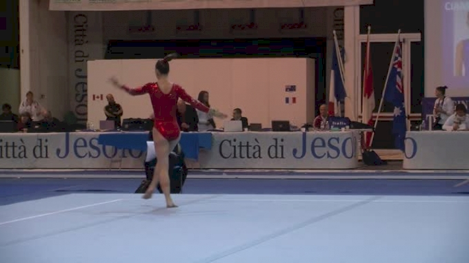 Canada, Meaghan Ruttan, 12.8 FX, Junior Qualifications - Jesolo 2015