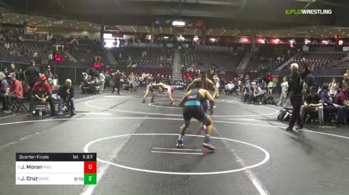 106 lbs Quarterfinal - Jacob Moran, Portage Wrestling Club vs Joey Cruz, Darkhorse