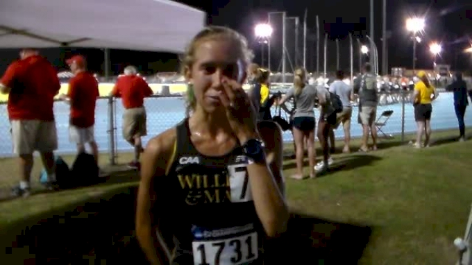 Emily Stites becoming a veteran in the 10K with a 3rd place finish