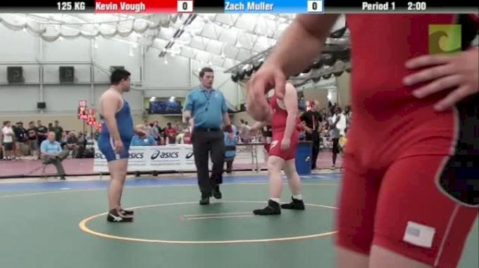 125kg s, Kevin Vough, Ohio  vs Zach Muller, Illinois
