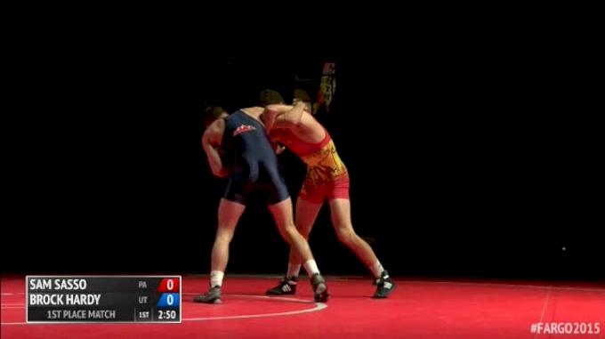 132lbs Finals Brock Hardy (Utah) vs. Sam Sasso (Pennsylvania)