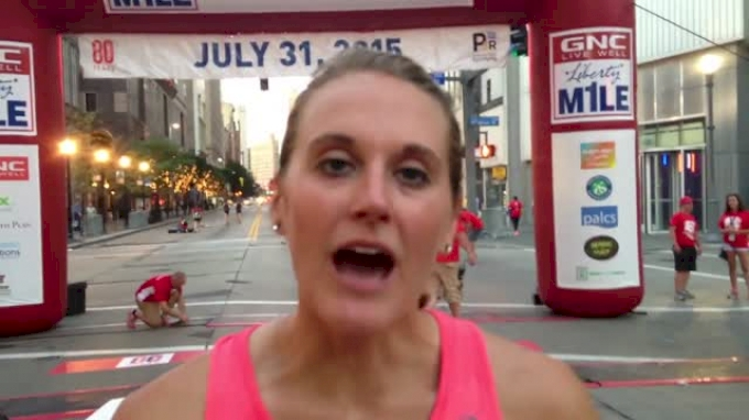 Heather Kampf wins the Liberty mile for the 3rd time