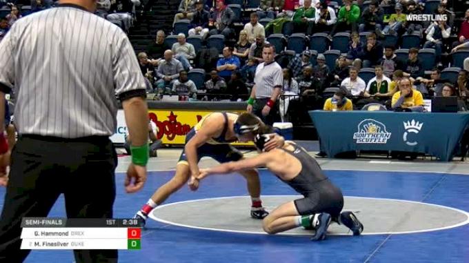 157 lbs Semifinal - Garrett Hammond, Drexel vs Mitch Finesilver, Duke