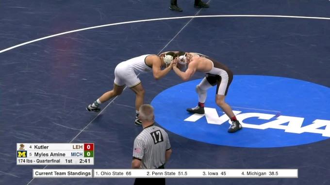 174 lbs, q, Myle Amine, Michigan vs Jordan Kutler, Lehigh