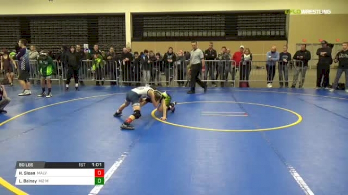 80 lbs Rr rnd 5 - Hunter Sloan, Malvern Silver MS vs Landon Bainey, M2 Ms
