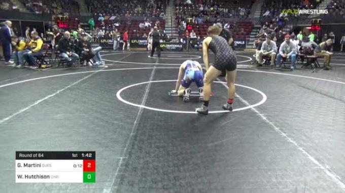 126 lbs Round Of 64 - Giani Martini, Quest vs William Hutchison, Christiansburg