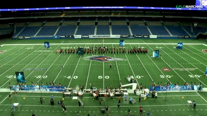 """Hutto H.S. """"Hutto, TX"""" at Bands of America San Antonio Super Regional Championship, presented by Yamaha"""