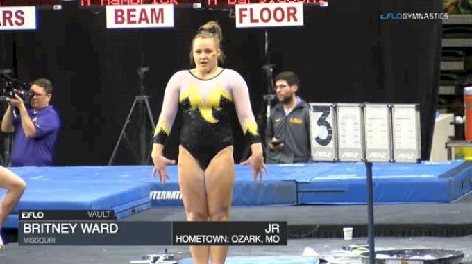 Britney Ward - Vault, Missouri - GymQuarters Invitational (NCAA)