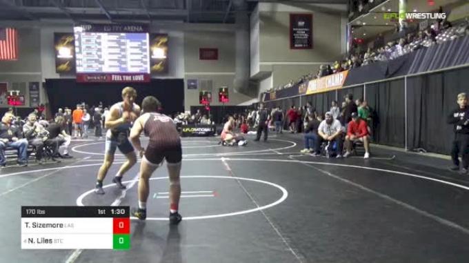 170 lbs Round Of 16 - Trey Sizemore, Cincinnati LaSalle vs Noah Liles, Bremen Takedown Club