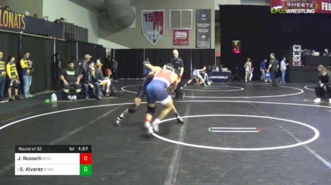 120 lbs Round Of 32 - Jordan Rosselli, Beast Mode vs Sammy Alvarez, Bitetto Trained Wrestling