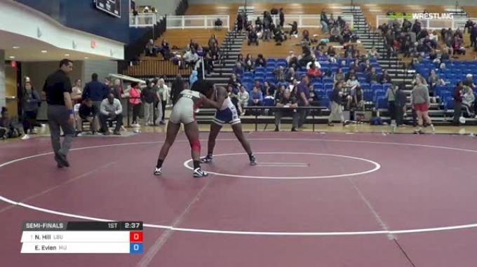 155 lbs Semifinal - Niauni Hill, Lindenwood Belleville University vs Evonne Evien, Menlo College