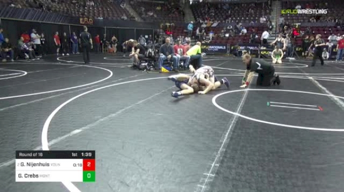 160 lbs Round Of 16 - Gerrit Nijenhuis, Young Guns Wrestling Club vs Gable Crebs, Montoursville