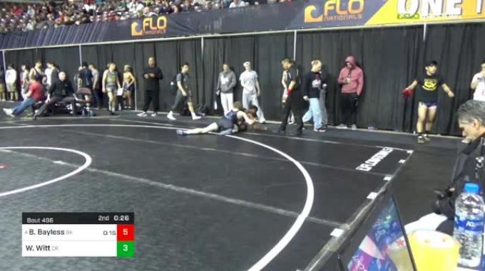 113 lbs Round Of 16 - Beau Bayless, Bad Karma vs William Witt, Cane Ridge High School