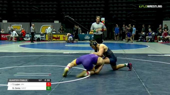 174 lbs Quarterfinal - Taylor Lujan, Northern Iowa vs Spencer Carey, Navy